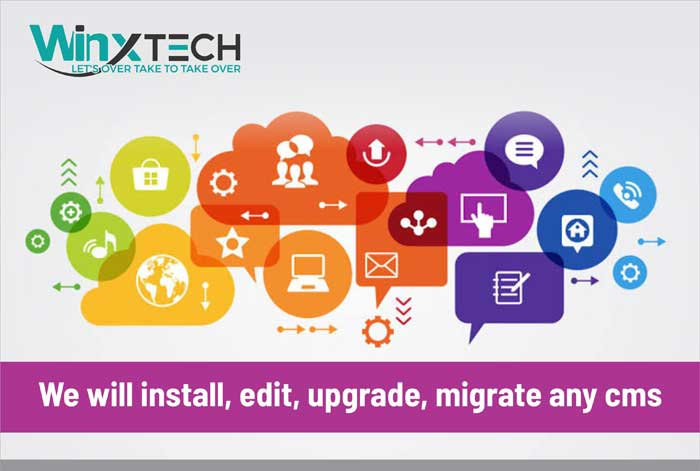 We Will Install, Edit, Upgrade, Migrate any CMS -WINX Technologies
