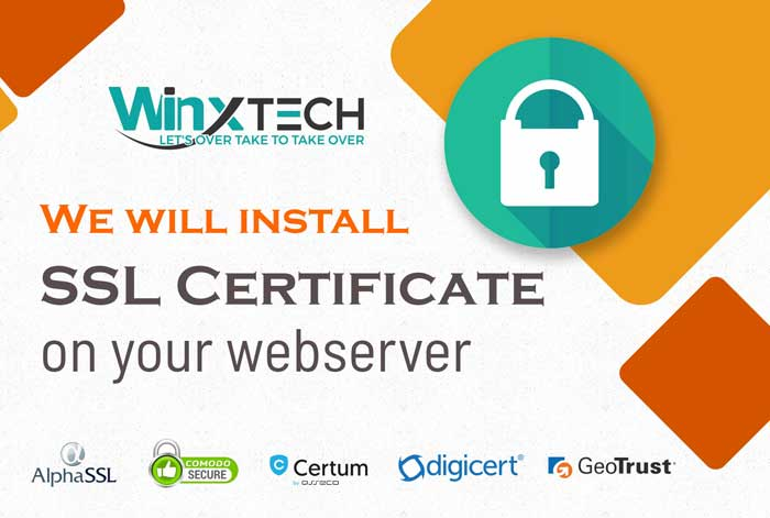We Will install SSL Certificate on your Webserver -WINX Technologies