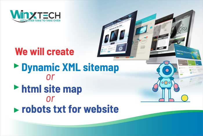 WINX Technologies  - We Will Create Dynamic XML sitemap or HTML sitemap or Robots txt for Website